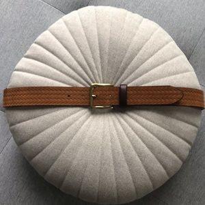 Massimo Dutti tan leather belt